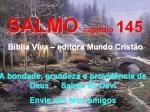 biblia viva salmo 145 bondade de deus