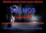 biblia viva salmo 45 ungido de deus
