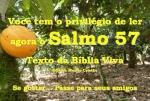 biblia viva salmo 57 benignidade divina