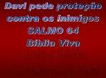 biblia viva salmo 64 proteção