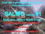 biblia viva salmo 81 louvor e obediência