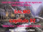 biblia viva salmo 92