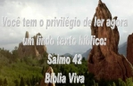 biblia viva salmos 42 fome da alma