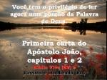 bíblia vivara 1 joão 1e2