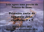 bíblia vivara 1 joão 3a5