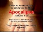 bíblia vivara apocalipse 1a3 cartas apostolo joão as 7 igrejas