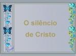 O silêncio de cristo